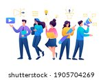 team of young creative people ... | Shutterstock .eps vector #1905704269