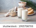 Milk Breakfast  Two Glasses Of...
