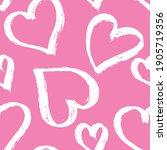 painbrush white hearts on... | Shutterstock .eps vector #1905719356