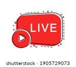 live stream icon. banner for... | Shutterstock .eps vector #1905729073