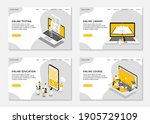 set of web page templates for... | Shutterstock .eps vector #1905729109