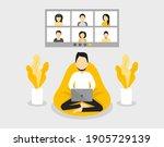 home office concept  man... | Shutterstock .eps vector #1905729139