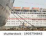 A Cruise Ship Docked Near...