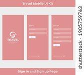 travel mobile app ui kit...