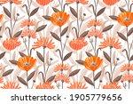 vector floral seamless pattern. ... | Shutterstock .eps vector #1905779656