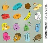 sketchy cafe vectors | Shutterstock .eps vector #190579346