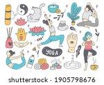 cartoon doodle of woman doing...   Shutterstock .eps vector #1905798676