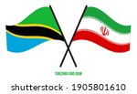 tanzania and iran flags crossed ... | Shutterstock .eps vector #1905801610