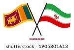 sri lanka and iran flags... | Shutterstock .eps vector #1905801613