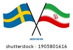 sweden and iran flags crossed... | Shutterstock .eps vector #1905801616