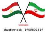 tajikistan and iran flags... | Shutterstock .eps vector #1905801619