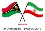 vanuatu and iran flags crossed... | Shutterstock .eps vector #1905801649
