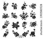 Stock vector set of vector flowers 190580528