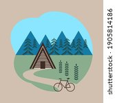 holiday retreat a frame lodge...   Shutterstock .eps vector #1905814186