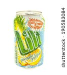 Small photo of SWINDON, UK - MAY 3, 2014: Can of Lilt the Totaly Tropical Taste on a white background, Lilt is produced by the Coca-ola Company.