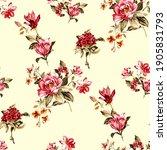 botanical flower pattern ... | Shutterstock . vector #1905831793