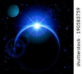 dark planet with blue radiance... | Shutterstock .eps vector #190583759