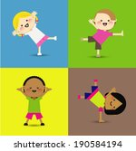 an illustration of little kids  | Shutterstock .eps vector #190584194