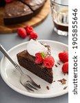 Slice Of Chocolate Brownie Cake ...