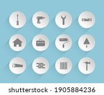 construction vector icons on...