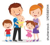 happy family portrait. happy... | Shutterstock .eps vector #190588544