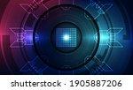 vector graphics. chip processor ... | Shutterstock .eps vector #1905887206