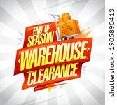 end of season warehouse... | Shutterstock .eps vector #1905890413