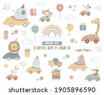 collection of drive by birthday ... | Shutterstock .eps vector #1905896590