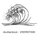 Outline Of Sea Wave. Sea Wave...