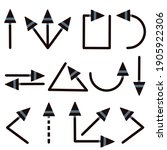 black and gray arrows show...   Shutterstock .eps vector #1905922306