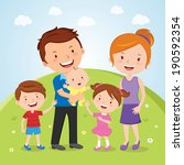 family outdoor portrait.... | Shutterstock .eps vector #190592354
