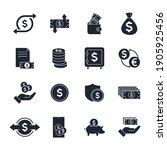 money related vector set icon.... | Shutterstock .eps vector #1905925456