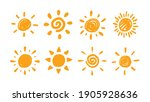 cute doodle sun collection.... | Shutterstock .eps vector #1905928636