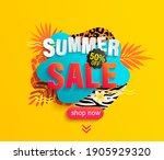 summer sale banner for hot... | Shutterstock .eps vector #1905929320