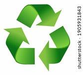 recycle symbol. green...   Shutterstock .eps vector #1905931843