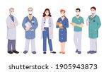 doctors or surgeons team...   Shutterstock . vector #1905943873