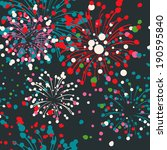 fireworks abstract vector.... | Shutterstock .eps vector #190595840