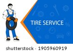 tire  service and car repair... | Shutterstock .eps vector #1905960919