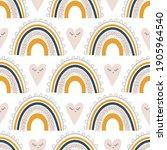 cute kids nursery rainbow...   Shutterstock .eps vector #1905964540