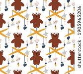 cute seamless pattern in pastel ...   Shutterstock .eps vector #1905965206