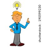 smart boy who is always a good... | Shutterstock .eps vector #190599230