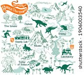 Prehistoric Dinosaurs Map...