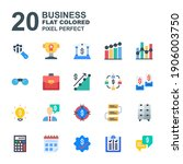 icon set of business. flat...