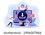 multimedia content upload... | Shutterstock .eps vector #1906007866