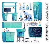 laboratory equipment set... | Shutterstock .eps vector #1906014616
