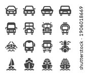 vehicle and transportation... | Shutterstock .eps vector #1906018669
