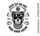 captain emblem design.... | Shutterstock .eps vector #1906021033