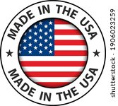 made in the usa icon  vector... | Shutterstock .eps vector #1906023259