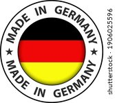made in germany icon  circle...   Shutterstock .eps vector #1906025596