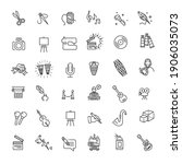 line arts icons set. vector...   Shutterstock .eps vector #1906035073